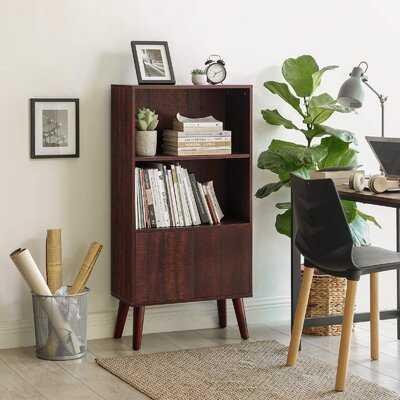 "Arlyn 47.2"" H x 23.6"" W Standard Bookcase - Wayfair"