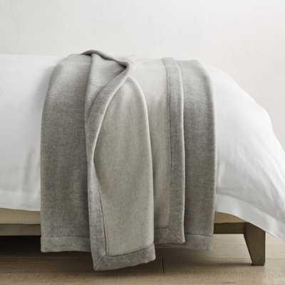 Border Solid Blanket, Queen, Grey - Williams Sonoma