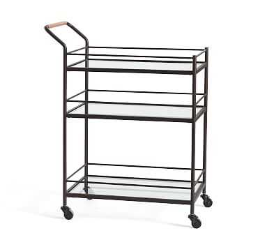 Hugo Bar Cart, Bronze - Pottery Barn