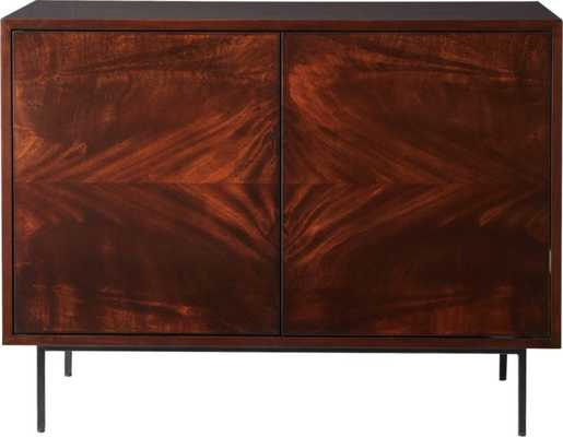 Clyde Mahogany Small Media Console - CB2