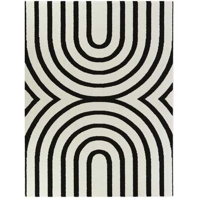 Papke Geometric Black/Beige Area Rug - Wayfair