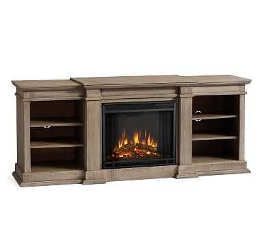 Lorraine Electric Fireplace, Gray Wash - Pottery Barn