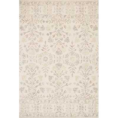 Mcclelland Floral Handmade Hooked Wool Ivory Area Rug - Wayfair