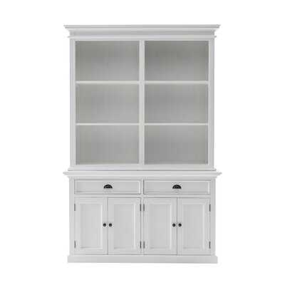 "Halifax 86.61"" H x 57.09"" W Solid Wood Standard Bookcase - Wayfair"