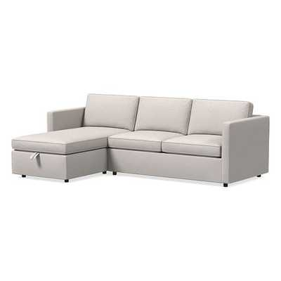 Harris Set 43:Right Arm Pop-Up Sleeper,Left ArmPop-Up Storage Chaise, Poly, Twill, Wheat, Concealed Supports - West Elm