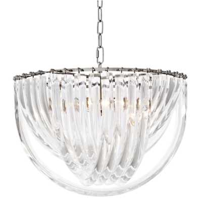 Eichholtz Murano Modern Classic Clear Acrylic Iron Chandelier - Large - Kathy Kuo Home
