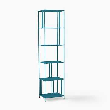 "Profile Narrow Bookcase, 18"", Petrol - West Elm"