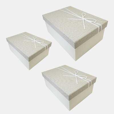 Nesting 3 Piece Cardboard Box Set - Wayfair