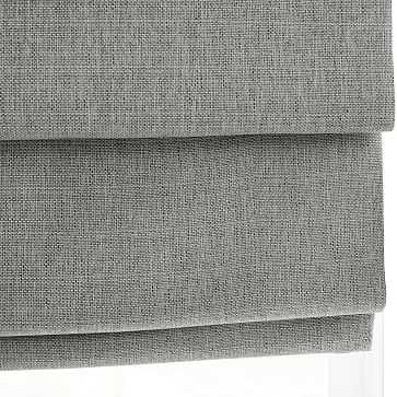 """Classic Woven Cordless Roman Shade, Silver Sage, 48""""x48"""" - West Elm"""