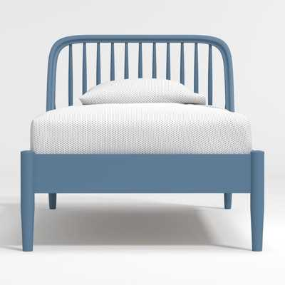 Bodie Blue Spindle Twin Bed - Crate and Barrel