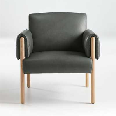 Diderot Wood and Leather Chair - Crate and Barrel