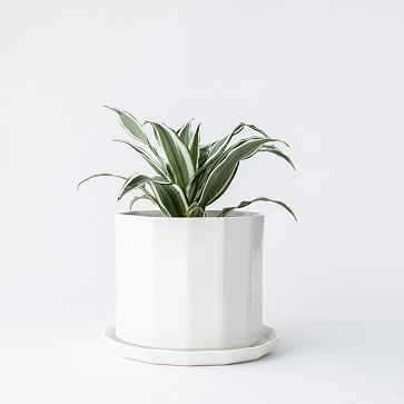 "8"" Riveted Planter, Ivory - West Elm"