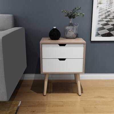 Colbey 2 - Drawer Solid Wood Nightstand in Walnut - Wayfair