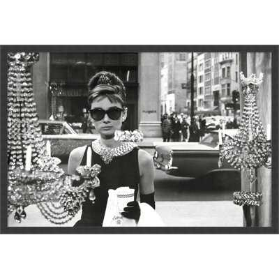 Audrey Hepburn Breakfast at Tiffany's (Window) - Picture Frame Photograph Print on Paper - AllModern