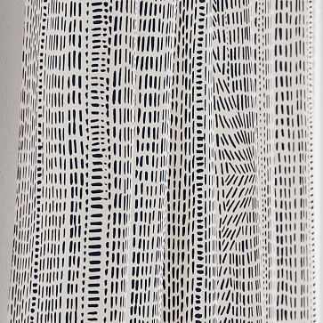 "Bomu Curtain, Set of 2, Black 48""x108"" - West Elm"