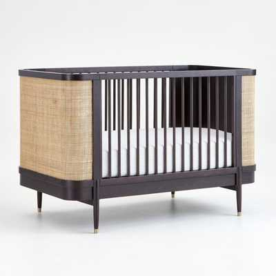 Black and Natural Cane Crib - Crate and Barrel