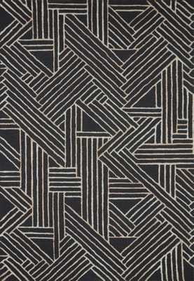 "VERVE VER-01 Charcoal / Neutral 8'-6"" x 12' - Loma Threads"