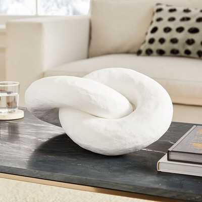 Paper Links Object, White, Paper Mache - West Elm