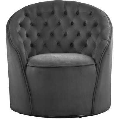 Fermin Velvet Swivel Barrel Chair - Wayfair