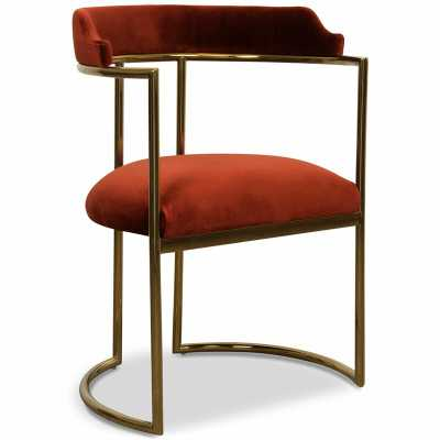 Acapulco Upholstered Dining Chair Upholstery Color: Paprika - Perigold