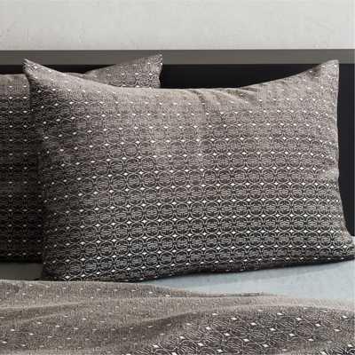 Moura Chenille Grey Standard Shams Set of 2 - CB2