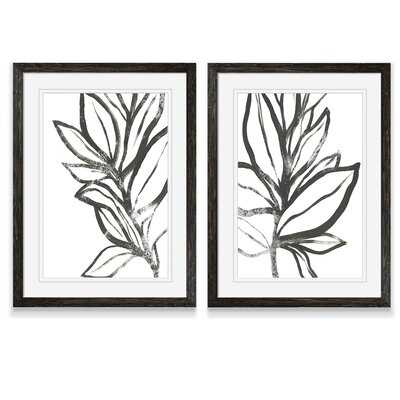 'Leaf Instinct I' by Vincent Van Gogh - 2 Piece Picture Frame Painting Print Set - Wayfair