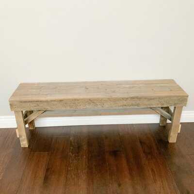 North Adams Wood Bench - Wayfair