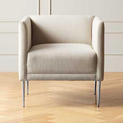 Marais Essence Sea Salt Chair with Chrome Legs - CB2