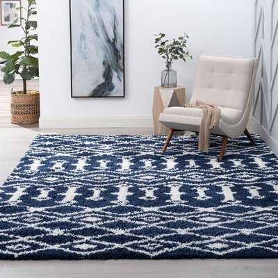Jemima Shag Navy/White Rug - Wayfair