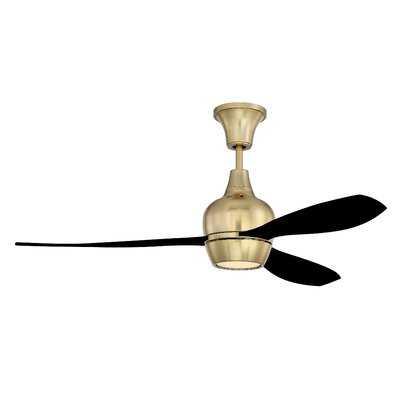 """52"""" Mcnemar 3 Blade LED Ceiling Fan, Light Kit Included - AllModern"""