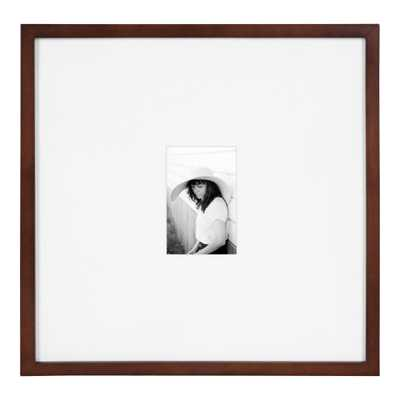 DesignOvation Gallery 17 in. x 17 in. matted to 4 in. x 6 in. Walnut Brown Picture Frame - Home Depot