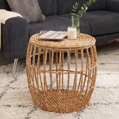 Lockwood Drum Coffee Table with Storage - Wayfair