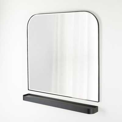 Edge Gunmetal Arch Wall Mirror and Shelf Set - Crate and Barrel