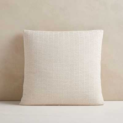 "Ladder Stripe Jacquard Pillow Cover, 20""x20"", Natural - West Elm"