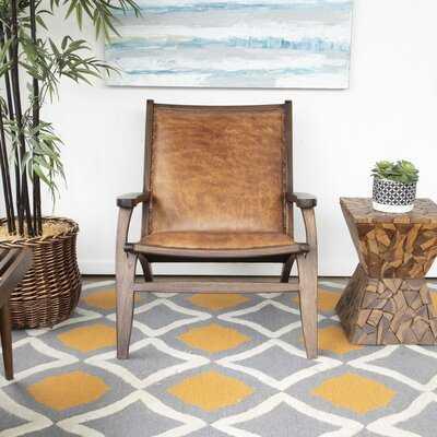 """Farryn 26"""" W Top Grain Leather Lounge Chair - Wayfair"""