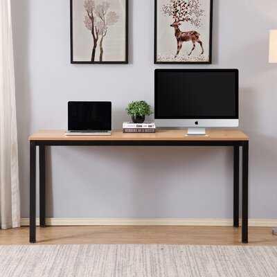 Simple Teak Writing Desk - Wayfair