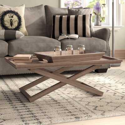 Birtha Coffee Table with Tray Top - Wayfair