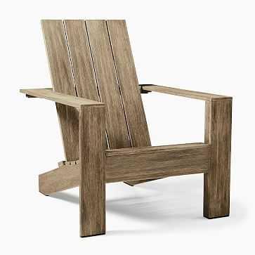 Portside Outdoor Adirondack Chair, Driftwood, Set of 2 - West Elm