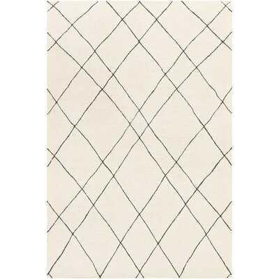 Wadsworth Geometric Handmade Tufted Wool Taupe/Gray Area Rug - AllModern