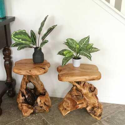 Gerrity Solid Wood Tree Stump End Table - Wayfair