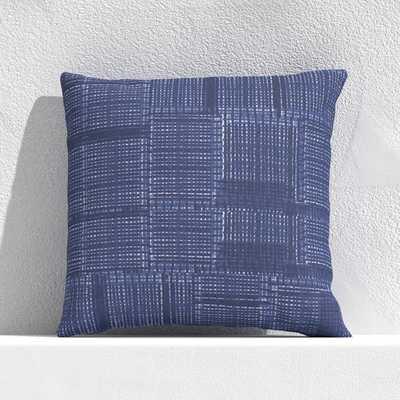 "Indigo Pixel 20"" Outdoor Pillow - Crate and Barrel"