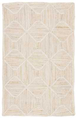 Sisal Bow Natural Trellis Ivory/ Beige Area Rug (5'X8') - Collective Weavers