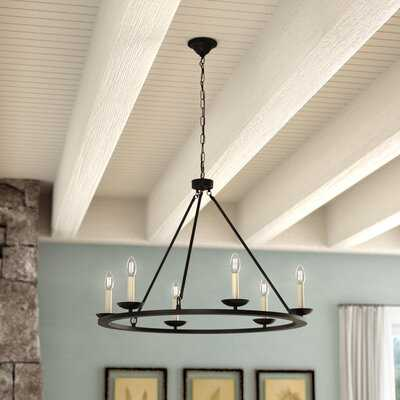 Pickensville 6 - Light Wagon Wheel Chandelier - Wayfair