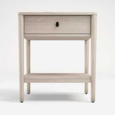 Gia Pickled Oak Nightstand - Crate and Barrel