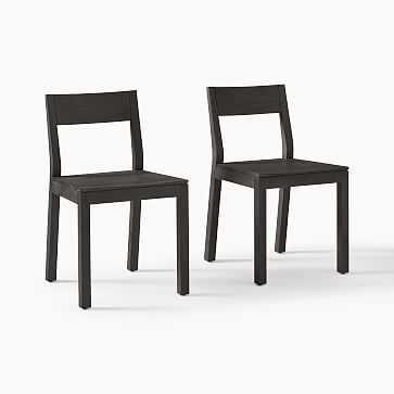 Tahoe Dining Chair, Blackened Oak, Set of 2 - West Elm