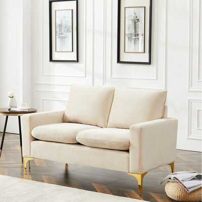 "Harvill Velvet 54.7"" Square Arm Loveseat - Wayfair"