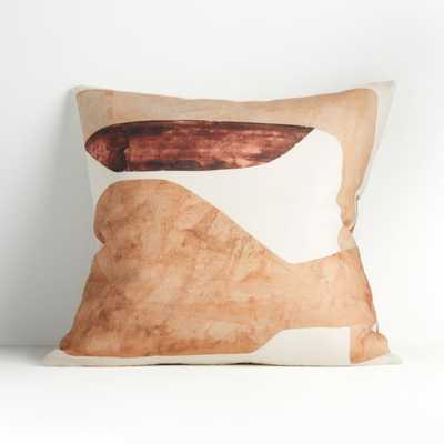 """Vessel Print Pillow 23"""" with Down Alternative Insert - Crate and Barrel"""
