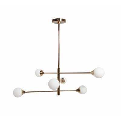 Spencyr 6 - Light Sputnik Modern Linear Chandelier - Wayfair