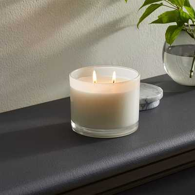 Vitrina Filled Candle, 2 Wick, Opal - West Elm