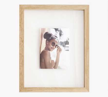 Floating Wood Gallery Frame, 11x14 (12x15 overall) - Natural - Pottery Barn